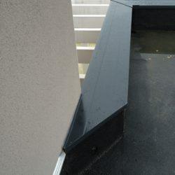 couvertine noire - pliage sur mesure - zinguerie aluminium